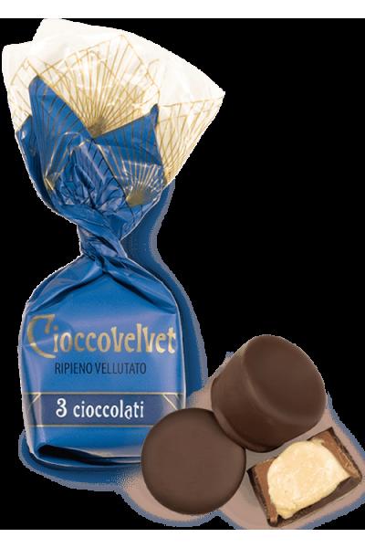 Ciocco velvet 3 chocolats (de 100g à 1kg)