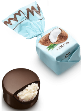 Chocolat fourré à la coco (de 100g à 1kg)
