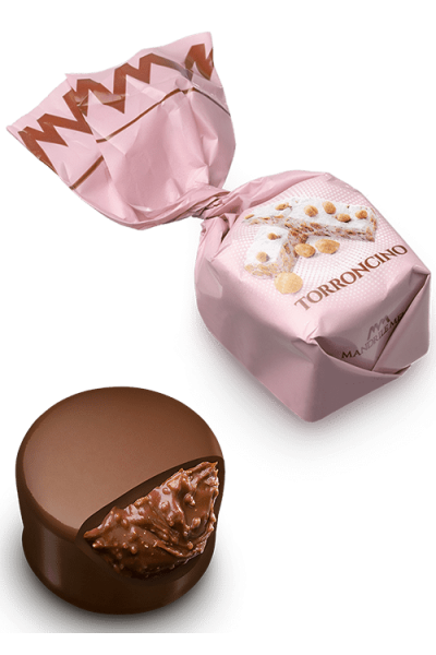 Chocolat fourré au nougat (de 100g à 1kg)