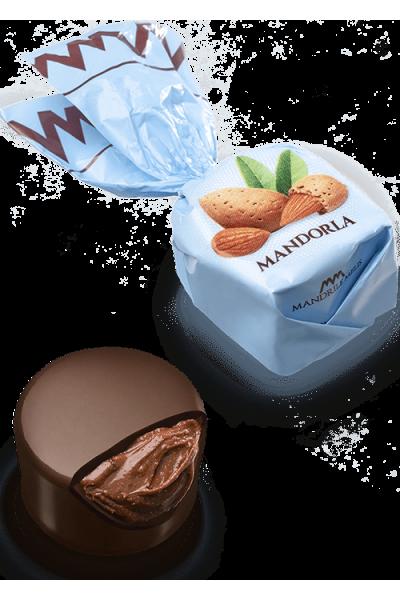 Chocolat fourré à crème aux amandes (de 100g à 1kg)
