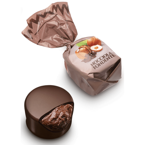Chocolat noir fourré aux noisettes (de 100g à 1kg)