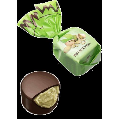 Chocolat fourré à la crème de pistache (de 100g à 1kg)