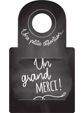 "Anti-gouttes au goulot ""Un grand merci"""