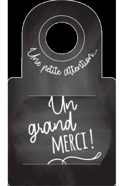 """Anti-gouttes au goulot """"Un grand merci"""""""