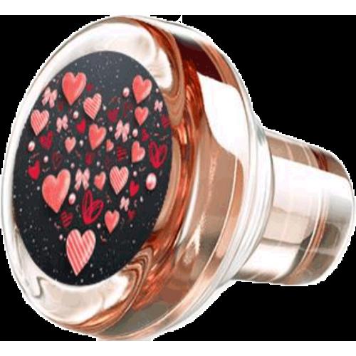 Bouchon vinolok verre rose décor coeur ♥
