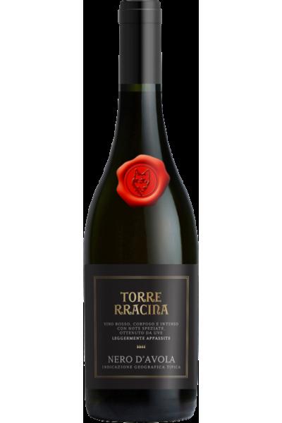 TORRE RRACINA Nero d'Avola DOC - étiquette abimée