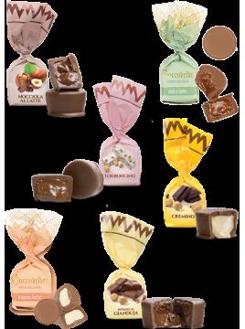 Chocolats fourrés, coque LAIT - goûts mix (de 100g à 1kg)