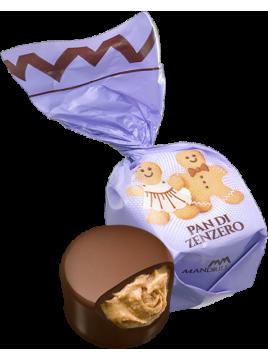 Chocolat fourré crème praliné au pain d'épice (de 100g à 1kg)
