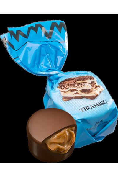 Chocolat au lait fourré crème pralinée au Tiramisu (de 100g à 1kg)
