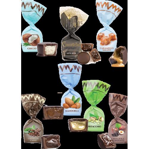 Chocolats fourrés NOIR - goûts mix (de 100g à 1kg)