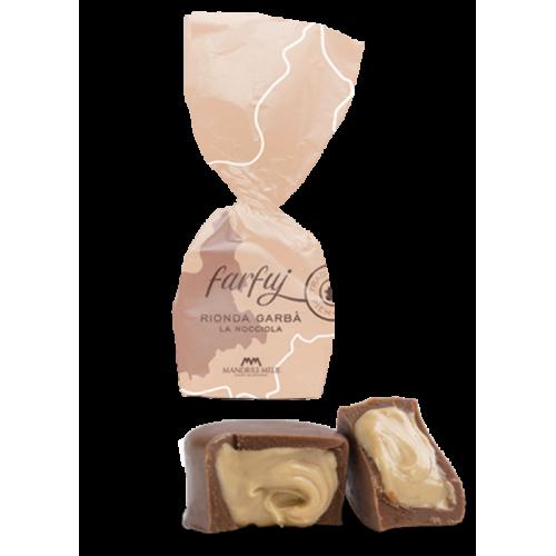 Chocolat au lait fourré aux noisettes (de 100g à 1kg) Farfuj