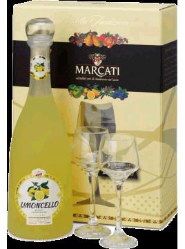 Coffret 2 verres Limoncello Marcati