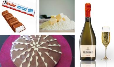 Dessert chic et gourmand : gateau Kinder® et Prosecco :)